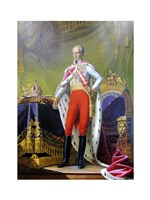 Emperor Franz, a Portrait of King of Hungary - various sizes