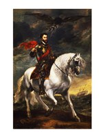 Portrait of Charles V, Holy Roman Emperor, on Horseback - various sizes