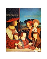 Portrait of Emperor Maximilian and his family - various sizes