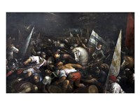Battle Scene, Charles VIII recieving the crown of Napoli - various sizes