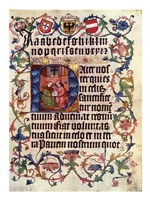 Textura Alphabet and Lord's Prayer in Latin Fine Art Print