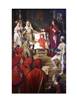 Philip I, the Handsome, Conferring the Order of the Golden Fleece on his Son Charles of Luxembourg Fine Art Print