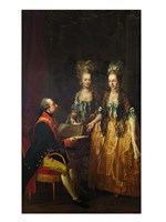 Portrait of Emperor Joseph II at the Piano with His Sisters Maria Anna and Maria Elisabeth - various sizes