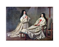 Mother Catherine-Agnes Arnault and Sister Catherine de Sainte Suzanne de Champaigne - various sizes, FulcrumGallery.com brand