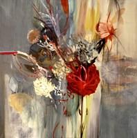 """Floral Life by Sarah Stockstill - 35"""" x 35"""", FulcrumGallery.com brand"""