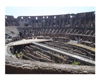 The Colosseum in Rome side view Fine Art Print