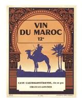 Morocco's Wine Label Fine Art Print