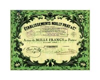 Action Noilly Prat Wine Framed Print