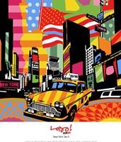"New York Taxi II by Maria Lobo - 12"" x 14"""