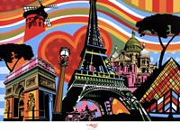 """Paris l'amour by Maria Lobo - 36"""" x 26"""""""