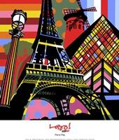 "Paris Pop by Maria Lobo - 12"" x 14"""