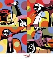 "Scooter Pop by Maria Lobo - 18"" x 20"""