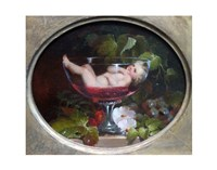 Cupid in a Wine Glass Fine Art Print