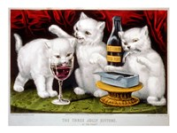 The Three Jolly Kittens: At The Feast - various sizes