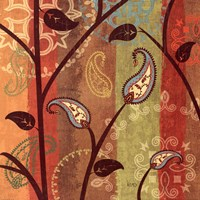 "Paisley Garden I by Veronique Charron - 18"" x 18"" - $13.99"