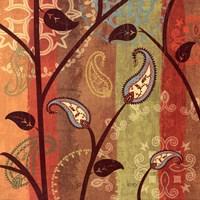 "Paisley Garden I by Veronique Charron - 18"" x 18"", FulcrumGallery.com brand"