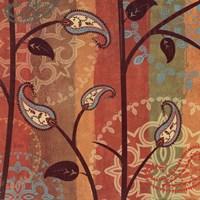 "Paisley Garden II by Veronique Charron - 18"" x 18"", FulcrumGallery.com brand"