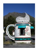 Espresso Simpatico Coffee Shop, Seward, Alaska - various sizes