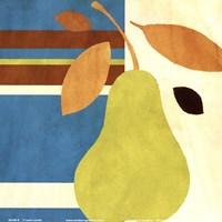 Merry Pear I (Blue) Fine Art Print