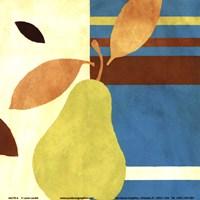 Merry Pear II (Blue) Fine Art Print