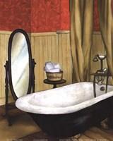 Red Farmhouse Bath II Fine Art Print