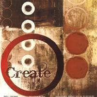 Create (Red) Fine Art Print