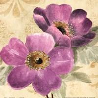 "Pourpre Fleur II by Lanie Loreth - 12"" x 12"""