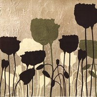 """Floral Simplicity I (Green) by Patricia Pinto - 6"""" x 6"""""""