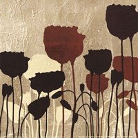 """Floral Simplicity V (Red) by Patricia Pinto - 6"""" x 6"""""""