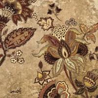 """European Floral On Beige II by Lanie Loreth - 24"""" x 24"""""""