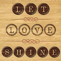 """Let Love Shine by Hakimipour - Ritter - 12"""" x 12"""", FulcrumGallery.com brand"""