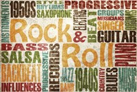 """Rock & Roll by SD Graphics Studio - 36"""" x 24"""""""