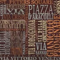 Streets Of Rome Fine Art Print