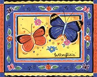 "Butterflies by Allison Jerry - 10"" x 8"", FulcrumGallery.com brand"