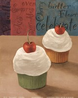 Cherry Cupcakes II Fine Art Print