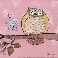 Pastels Owls III - mini Framed Print