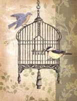 Botanical Birdcage II Fine Art Print