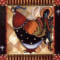 Tuscan Rooster Sq II Fine Art Print