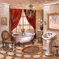 Leopard Parisian Bath Fine Art Print