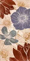 "Vintage Flowers I by N. Harbick - 12"" x 24"""
