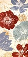 """Vintage Flowers II by N. Harbick - 12"""" x 24"""""""