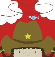 Peek-A-Boo Cowgirl Fine Art Print