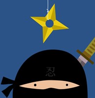 Peek-A-Boo Ninja Fine Art Print