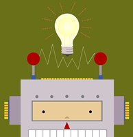 Peek-A-Boo Robot Fine Art Print