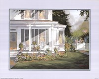 Screened in Porch with Garden Fine Art Print