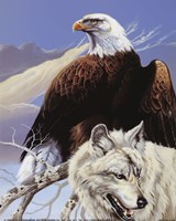 Eagle and Wolf Fine Art Print
