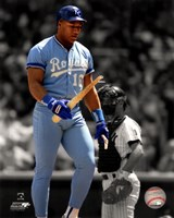 Bo Jackson Spotlight Action Framed Print
