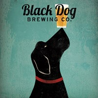 Black Dog Brewing Co Square Framed Print