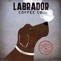 Labrador Coffee Co. Framed Print