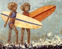 Bikini Surf Framed Print